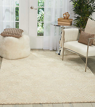 """Accessory Deco Mod Taupe/Ivory 3'9"""" x 5'9"""" Area Rug, Natural, rollover"""
