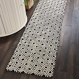 "Accessory Deco Mod Black/Beige  2'3"" x 7'6"" Runner, Black/Beige, rollover"