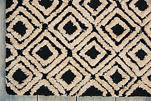 "Accessory Deco Mod Black/Beige 5'3"" x 7'4"" Area Rug, Black/Beige, large"