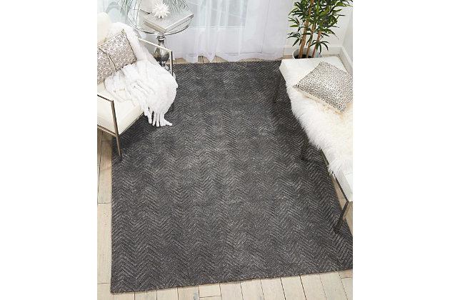 "Accessory Deco Mod Grey 5'3"" x 7'4"" Area Rug, Charcoal, large"
