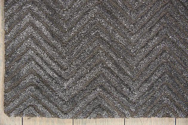"Accessory Deco Mod Grey 5'3"" x 7'4"" Area Rug, Charcoal, large"
