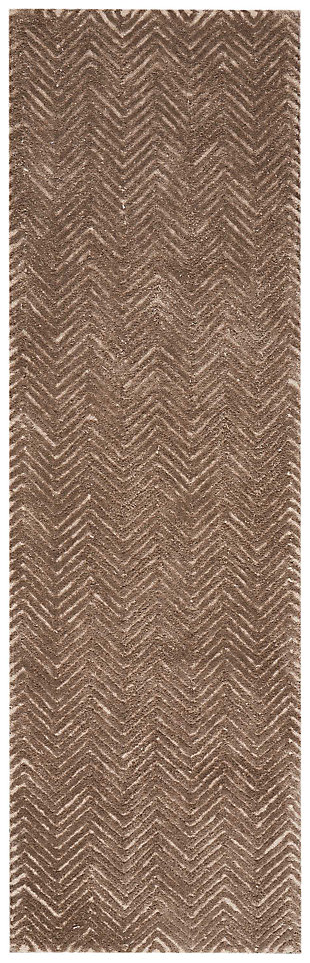 "Accessory Deco Mod Taupe 2'3"" x 7'6"" Runner, Taupe, large"