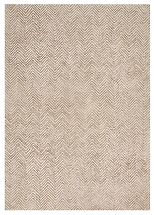"Accessory Deco Mod Taupe 3'9"" x 5'9"" Area Rug, Taupe, large"