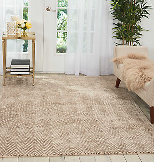 "Accessory Deco Mod Taupe 3'9"" x 5'9"" Area Rug, Taupe, rollover"