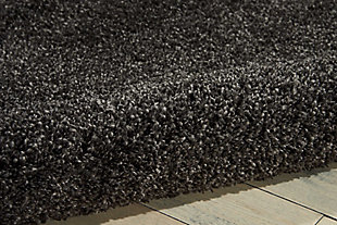 """Accessory Amore Dark Grey 3'11"""" x 5'11"""" Area Rug, Charcoal, large"""