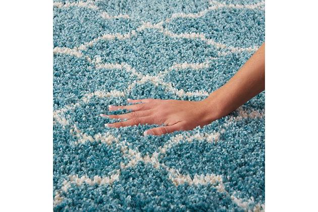 """Accessory Amore Aqua 5'3"""" x 7'5"""" Area Rug, Aqua, large"""
