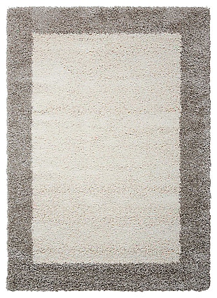 "Accessory Amore Ivory/Silver 3'11"" x 5'11"" Area Rug, , large"