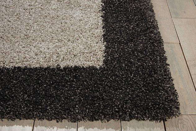 """Accessory Amore Silver/Charcoal 7'10"""" x 10'10"""" Area Rug, Charcoal, large"""
