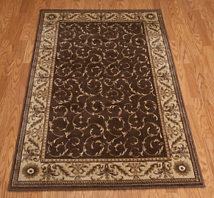 "Accessory Somerset Brown 5'3"" x 7'5"" Area Rug, Latte, rollover"