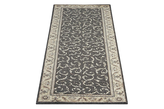 """Accessory Somerset Charcoal 2'3"""" x 8'Runner, Charcoal, large"""