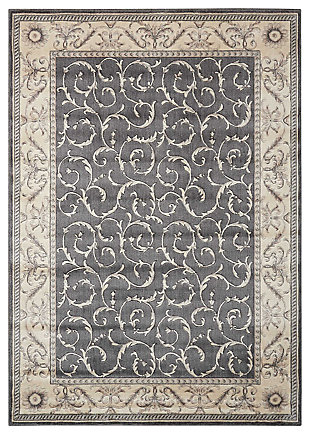 """Accessory Somerset Charcoal 5'3"""" x 7'5"""" Area Rug, Charcoal, large"""