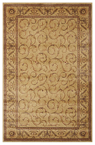 """Accessory Somerset Ivory 5'3"""" x 7'5"""" Area Rug, Beige, large"""