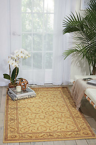 """Accessory Somerset Ivory 5'3"""" x 7'5"""" Area Rug, Beige, rollover"""