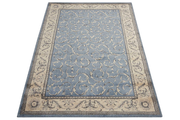 "Accessory Somerset Light Blue 5'3"" x 7'5"" Area Rug, Slate, large"