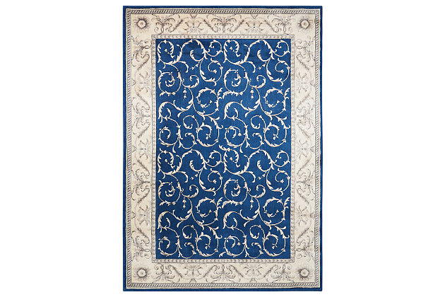 "Accessory Somerset Navy 5'3"" x 7'5"" Area Rug, Ink, large"
