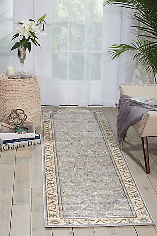 """Accessory Somerset Silver 2'3"""" x 8'Runner, Silver, rollover"""