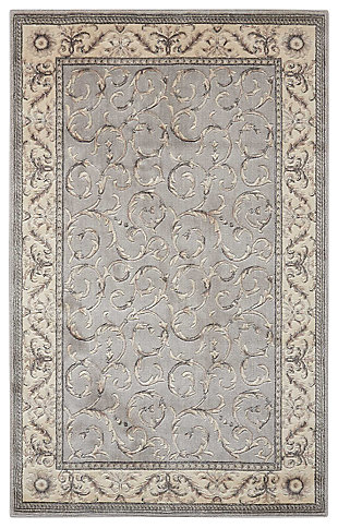 "Accessory Somerset Silver 5'3"" x 7'5"" Area Rug, Silver, large"
