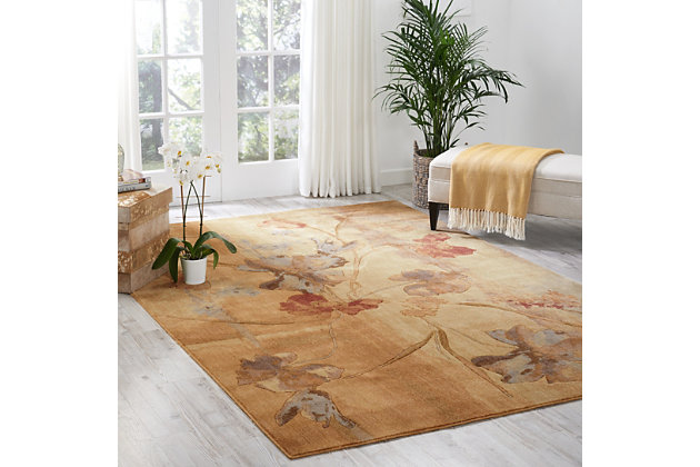 "Accessory Somerset Beige 5'3"" x 7'5"" Area Rug, Beige, large"
