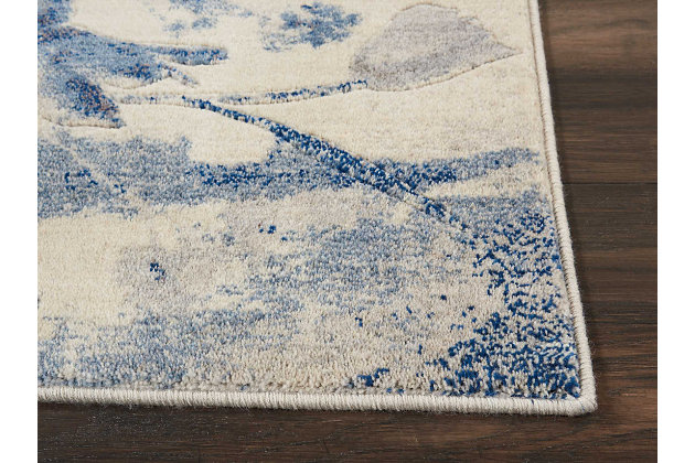 """Accessory Somerset Ivory/Blue 2'6"""" x 4'Accent Rug, Ivory/Navy, large"""