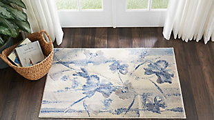 "Accessory Somerset Ivory/Blue 2'6"" x 4'Accent Rug, Ivory/Navy, rollover"