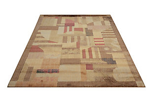 "Accessory Somerset Multicolor 5'3"" x 7'5"" Area Rug, Blue/Beige, rollover"