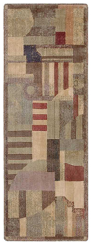 "Accessory Somerset Multicolor 5'3"" x 7'5"" Area Rug, Blue/Beige, large"