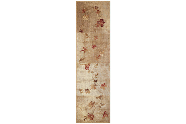 "Accessory Somerset Multicolor 2'3"" x 8'Runner, Natural, large"