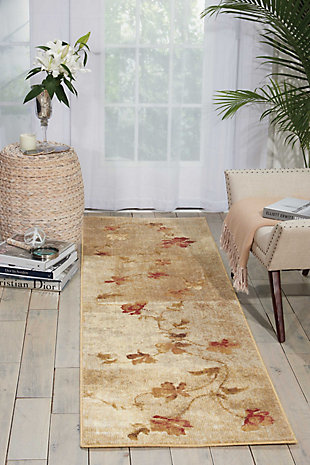 "Accessory Somerset Multicolor 2'x 5'9"" Runner, Natural, rollover"