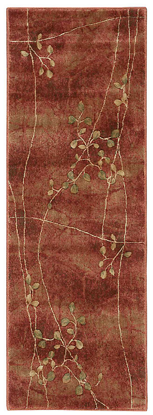 "Accessory Somerset Flame 2'3"" x 10'Runner, Flame, large"