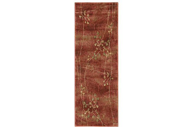 """Accessory Somerset Flame 2'3"""" x 10'Runner, Flame, large"""