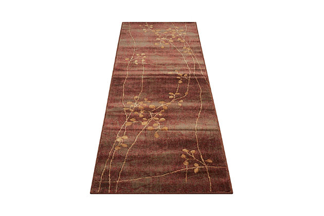 "Accessory Somerset Multicolor 2'3"" x 8'Runner, Pale Red, large"