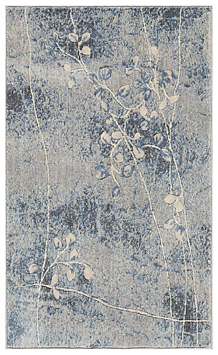 "Accessory Somerset Silver/Blue 2'6"" x 4'Accent Rug, Blue/Silver, large"