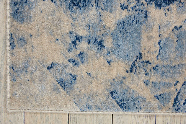 """Accessory Somerset Blue 5'3"""" x 7'5"""" Area Rug, Ink, large"""