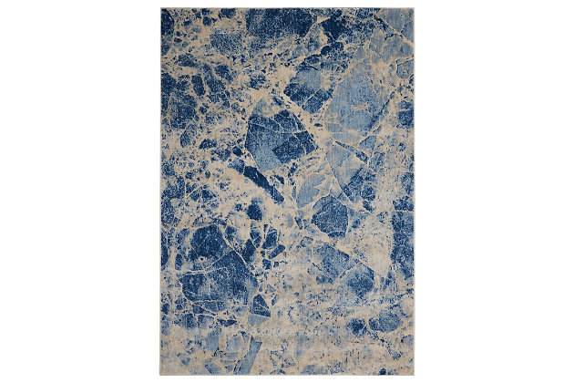 "Accessory Somerset Blue 5'3"" x 7'5"" Area Rug, Ink, large"