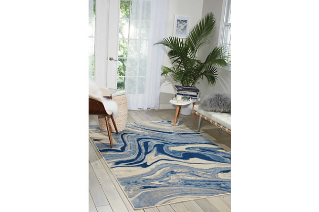 "Accessory Somerset Light Blue 5'3"" x 7'5"" Area Rug, Light Blue, large"