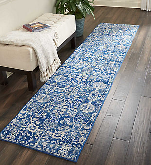 "Accessory Somerset Navy 2'3"" x 10'Runner, Navy, rollover"