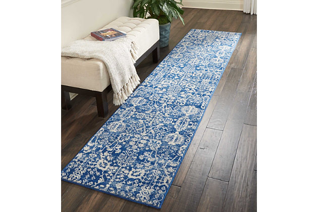"Accessory Somerset Navy 2'3"" x 10'Runner, Navy, large"