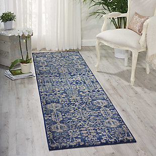 "Accessory Somerset Navy 2'3"" x 8'Runner, Navy, rollover"