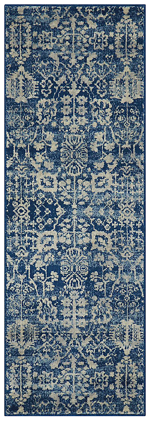 "Accessory Somerset Navy 2'x 5'9"" Runner, Navy, large"