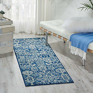 "Accessory Somerset Navy 2'x 5'9"" Runner, Navy, rollover"
