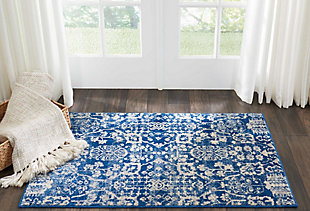 "Accessory Somerset Navy 2'6"" x 4' Accent Rug, Navy, rollover"