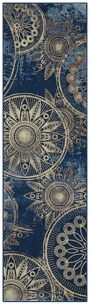"Accessory Somerset Denim 2'x 5'9"" Runner, Denim, large"