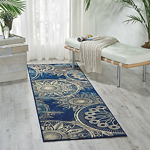 "Accessory Somerset Denim 2'x 5'9"" Runner, Denim, rollover"