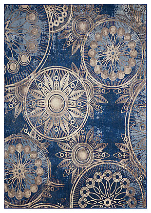 "Accessory Somerset Denim 5'3"" x 7'5"" Area Rug, Denim, large"