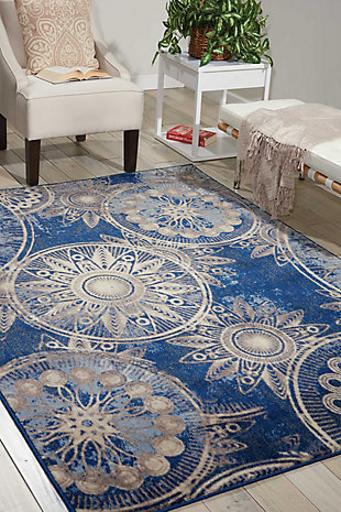 "Accessory Somerset Denim 5'3"" x 7'5"" Area Rug, Denim, rollover"