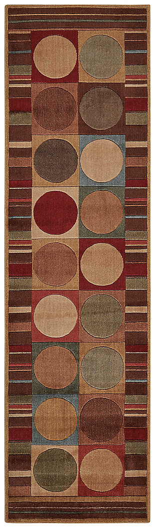 "Accessory Somerset Multicolor 2'x 5'9"" Runner, Red/Beige, large"