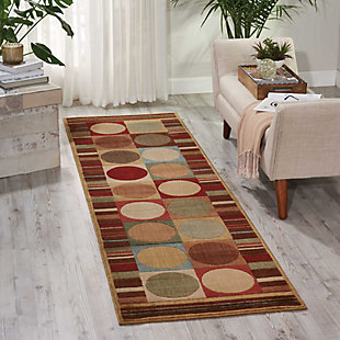 "Accessory Somerset Multicolor 2'3"" x 8'Runner, Red/Beige, rollover"