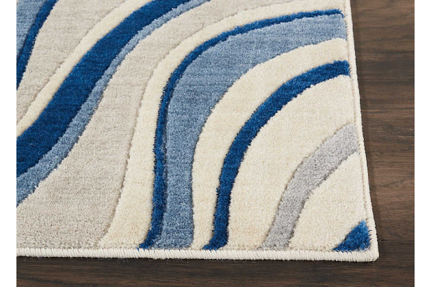 """Accessory Somerset Ivory/Blue 2'6"""" x 4' Accent Rug, Ivory/Navy, large"""