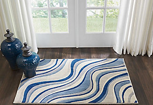 "Accessory Somerset Ivory/Blue 2'6"" x 4' Accent Rug, Ivory/Navy, rollover"