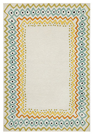 "Home Accents 5' x 7'6"" Rug Indoor/Outdoor Rug, , large"
